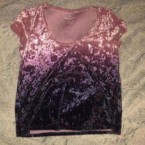 American Eagle Velvet t-shirt ombre